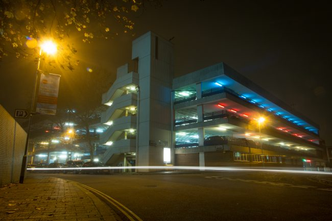 Portsmouth City Centre at Night